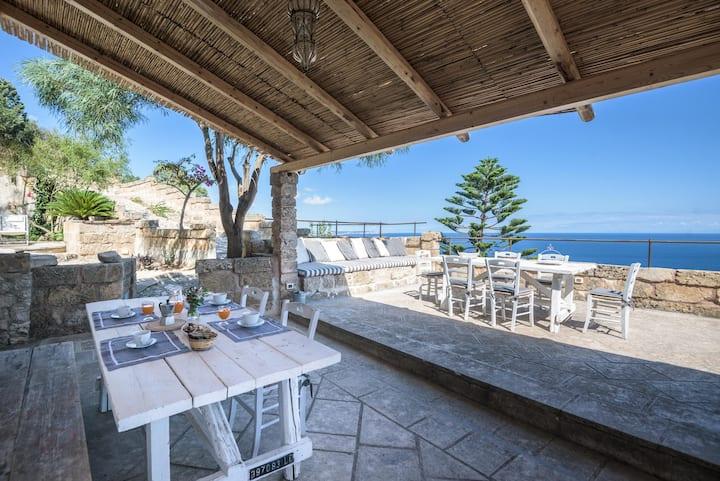 small Villa with panoramic coastal views