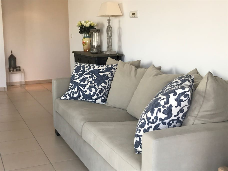 Living room area. This sofa can be used as accommodation for one person.