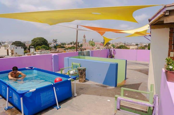 Habitaciones con vista al mar en Barranco