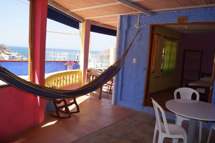 Tayrona Colors, Apt vista al mar-cocina-piscina.5