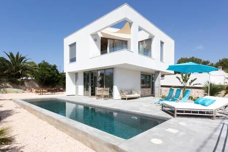 Sea view modern house walk to beach - Cala Llombards - Dom