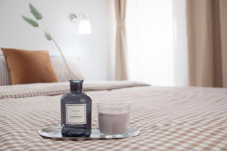 床品采用MUJI水洗棉,干爽又亲肤,给您舒适的睡眠体验
