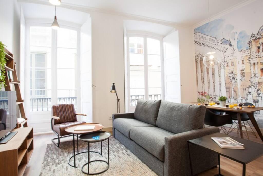 Living Room & Double Sofa-bed - Santos Thyssen 1
