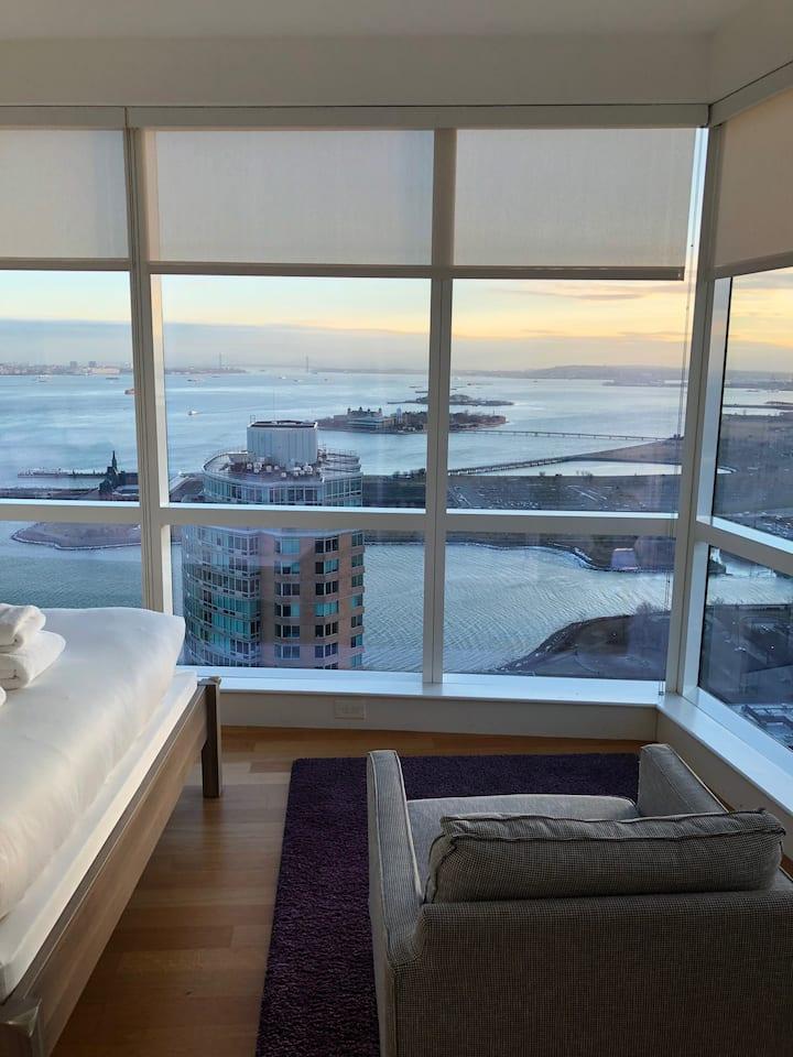 Dharma | Jersey City | Comfy 1BR + City Views