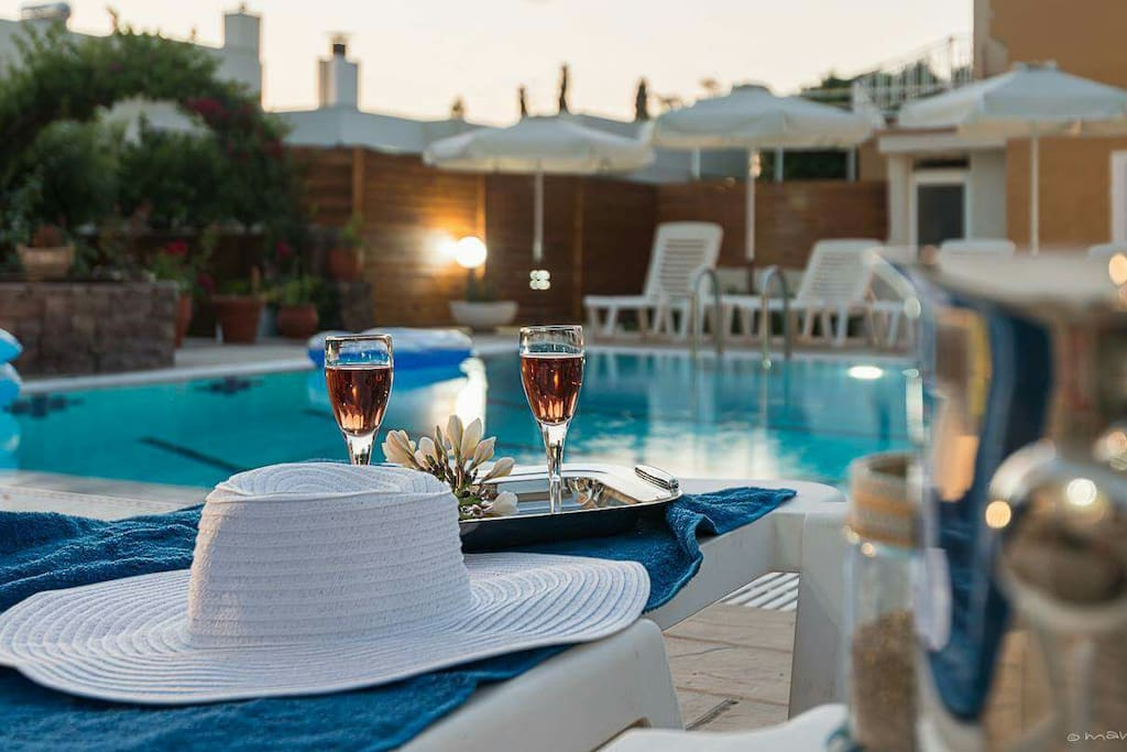 enjoy your cold wine at the pool
