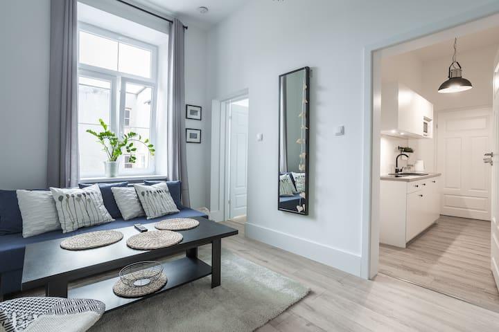 Apartament z antresolą Krakowskie Przedmieście 30