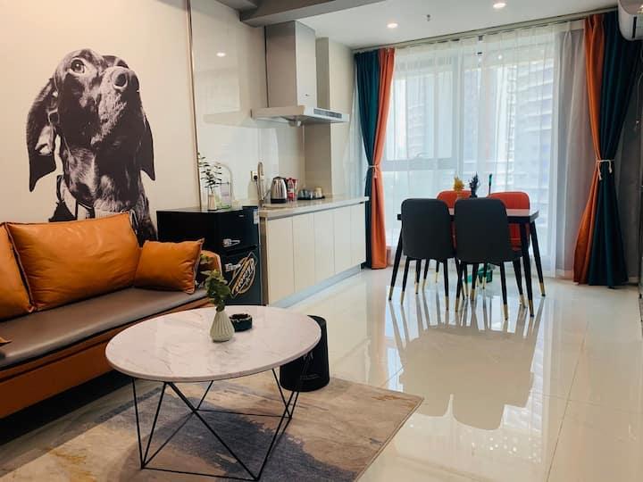 一宅19Loft公寓•灰-投影大床房