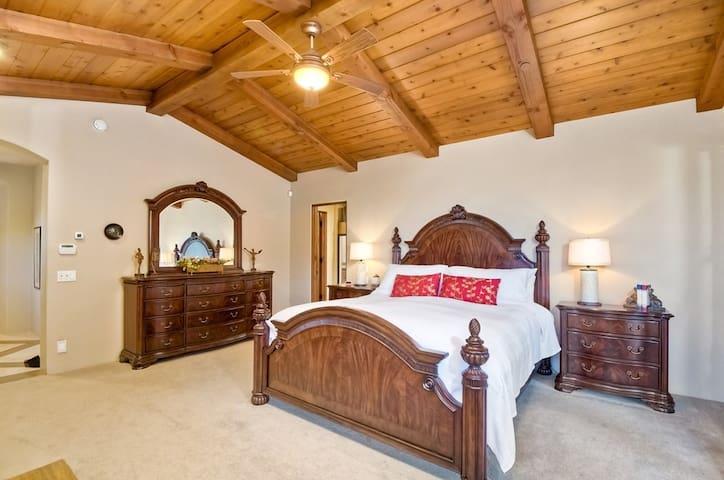 upstairs master bedroom- CA King bed