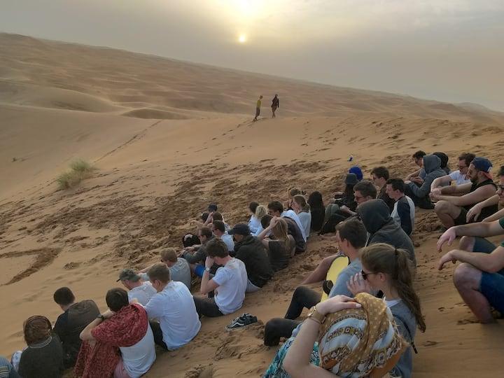 voyage en groupe ' voyage organisé' au desert
