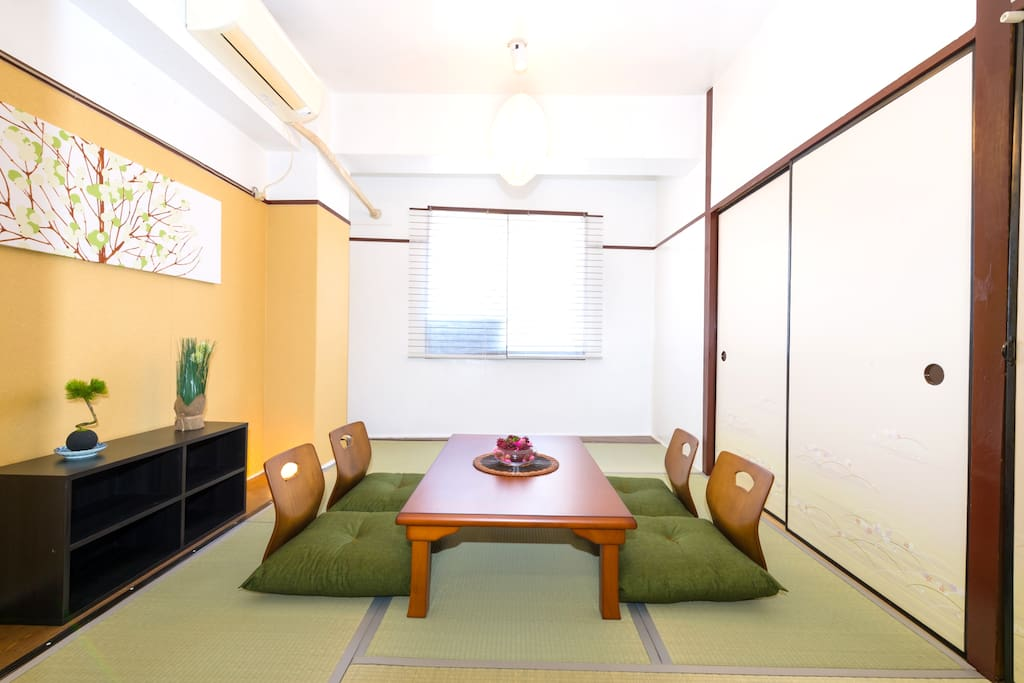 you can enjoy the real japanese room in my place.