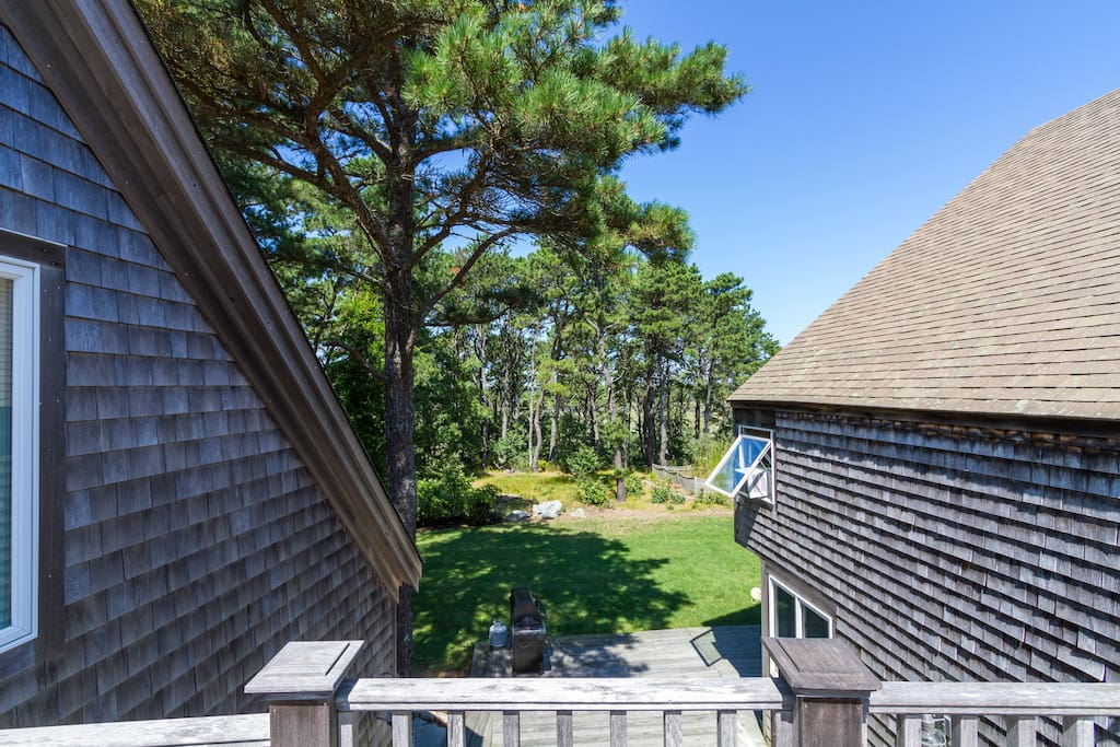 View from deck above sun room