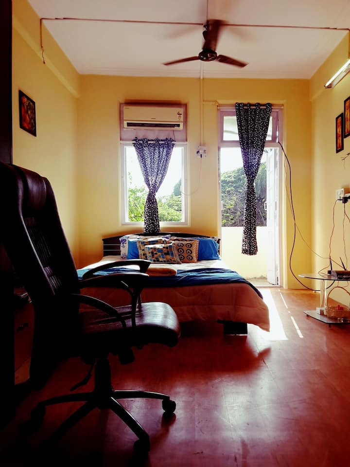 Economical AC Private 1 Bed Room with Balcony