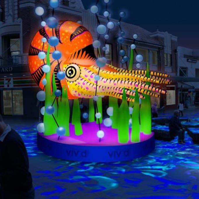 Vivid Festival in Chatswood