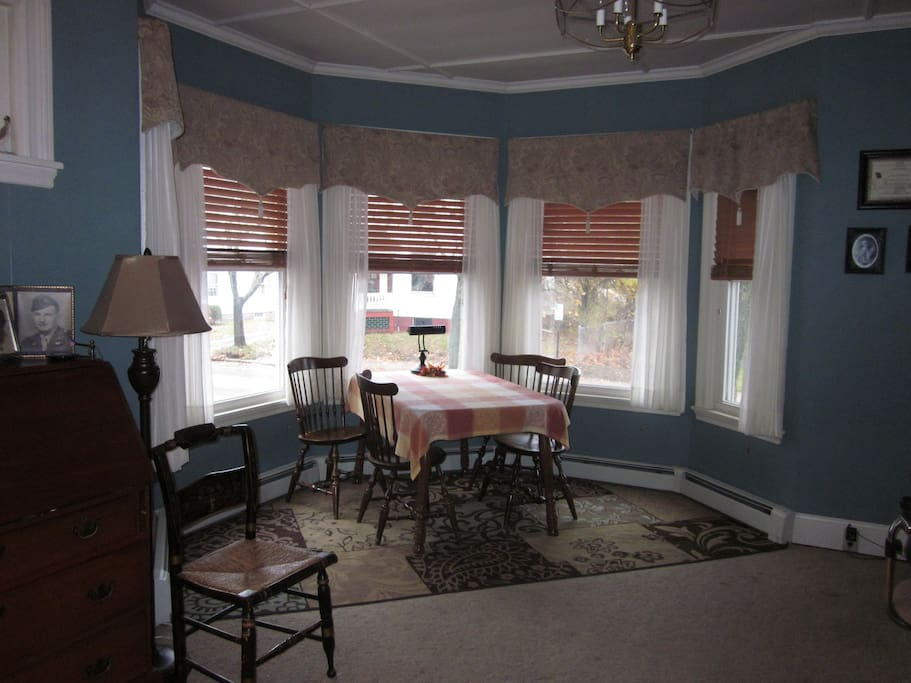 Front room looking out over the street.  Lots of sunlight.