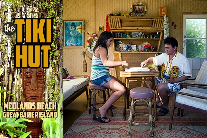 Tiki Hut Medlands Beach - Great Barrier Island - Hus
