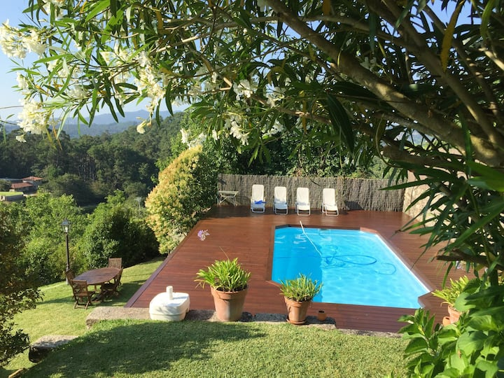 Villa with 3 bedrooms in Gondomar, with wonderful sea view, private pool and WiFi - 8 km from the beach