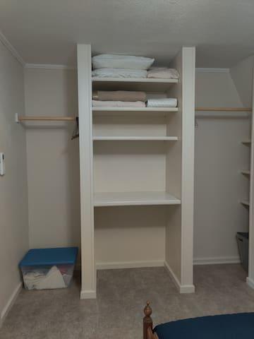 Bedroom closet and storage