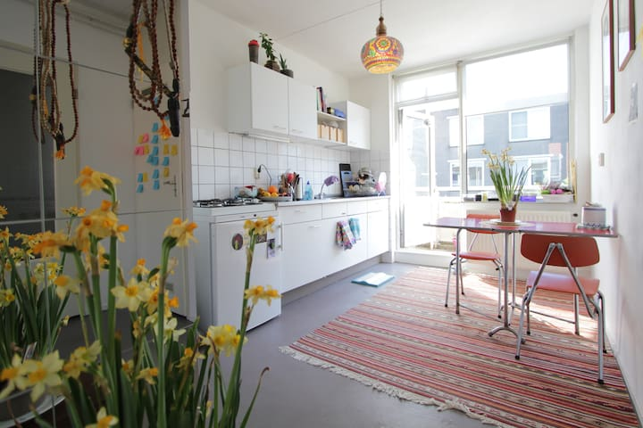 Spacious and fresh, artist and yoga apartment - Amsterdam - Apartemen