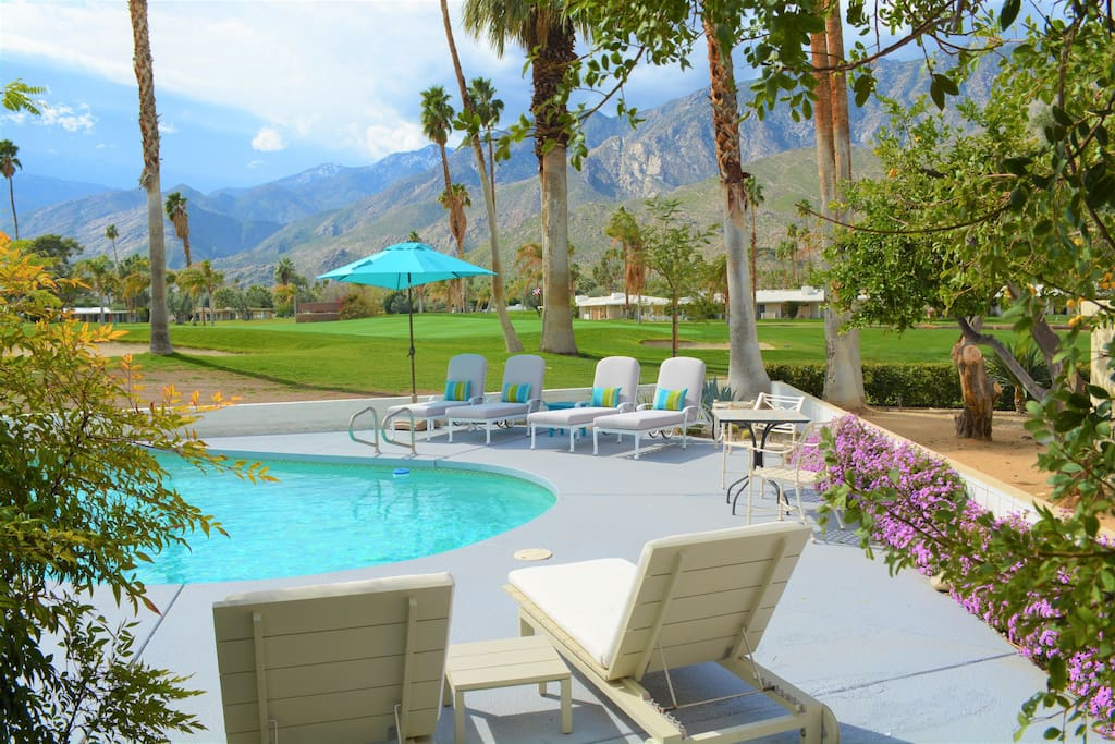Amazing 180 degree views of mountains & right on the golf course. No walls, power lines, or views into neighbors homes.