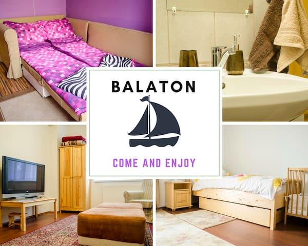 Apt GAGARIN at Balaton + free WIFI, for 1-6 people - Balatonfűzfő - Ortak mülk