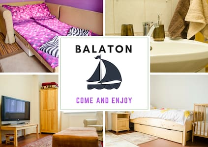 Apt GAGARIN at Balaton + free WIFI, for 1-6 people - Balatonfűzfő