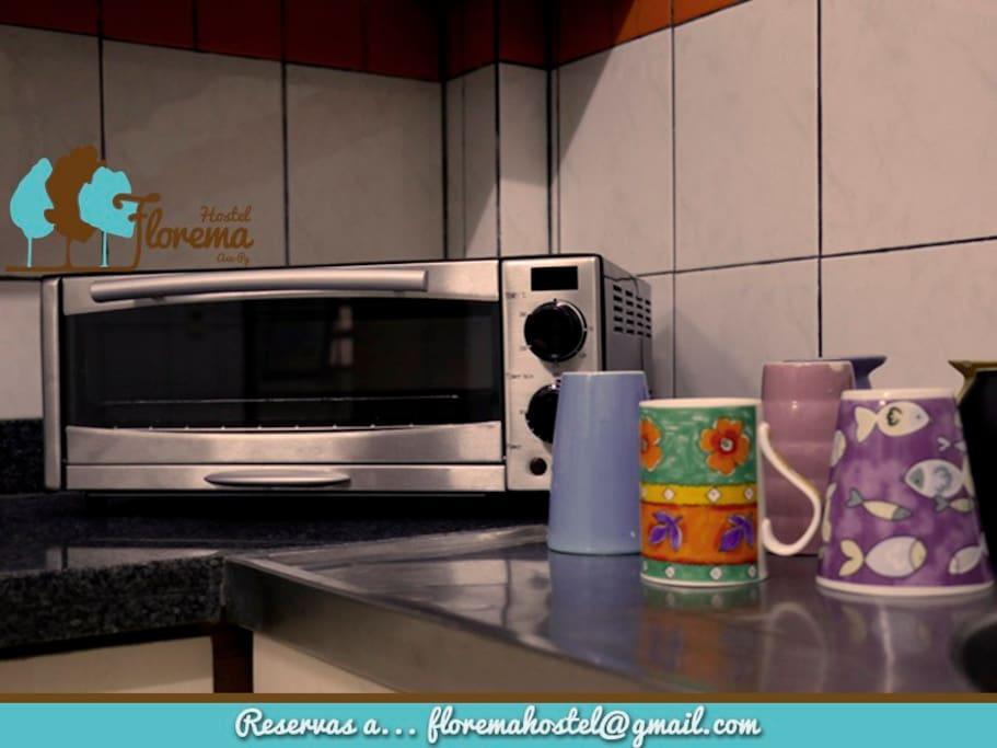 Cocina Amoblada y equipada