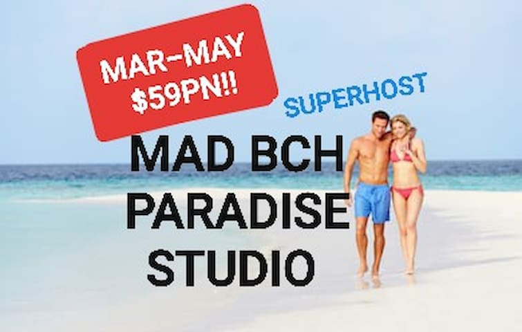 Mad Bch Paradise Studio*MARCH thru MAY$59PN !