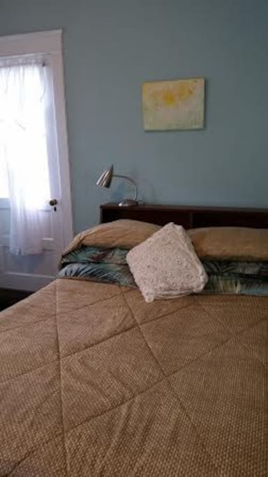 Comfortable, full bed to accommodate 1 OR 2 people.