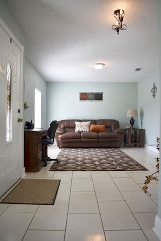 Front entrance with sofa sleeper