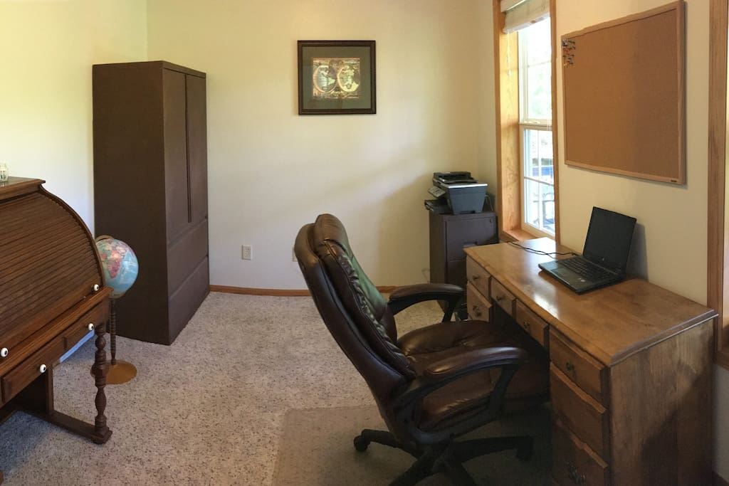 Office with desk/workspace