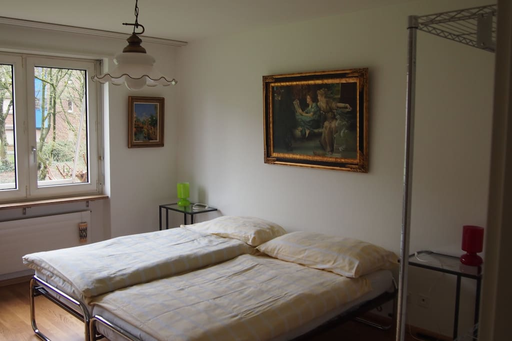 Large bedroom, two beds