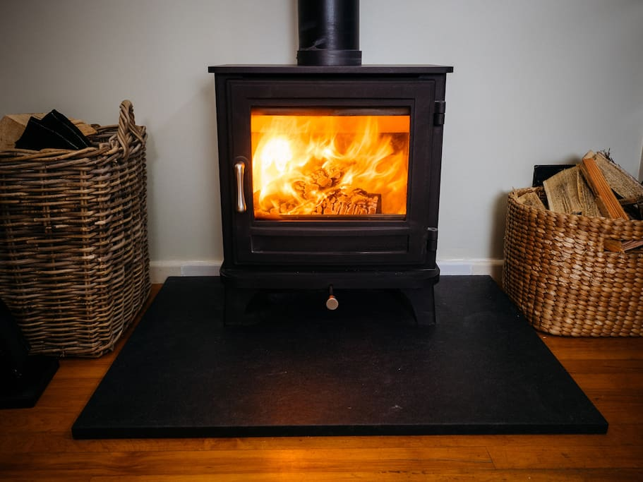 Snuggle up in front of your own wood burning stove.