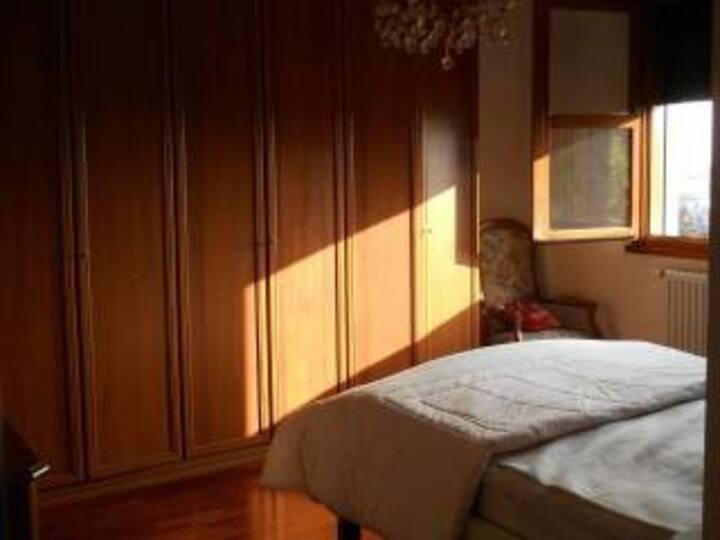 Luminosa stanza matrimoniale uso singola