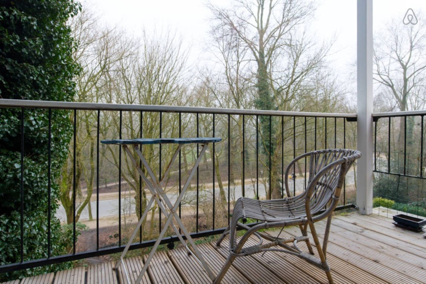The lovely balcony. It is situated towards the south so there is sun all the time!