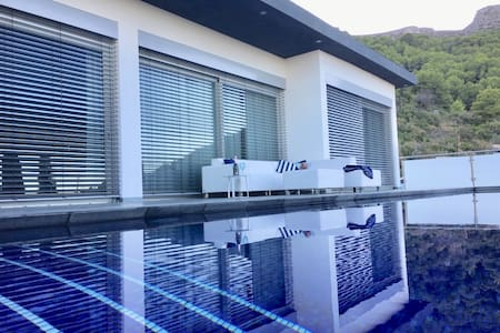 luxury villa with a exciting view in Calp.