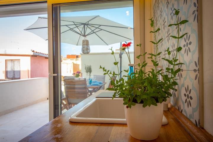 La Palazzata casa con terrazza