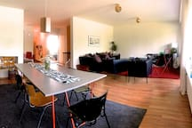 Living room and dining area!