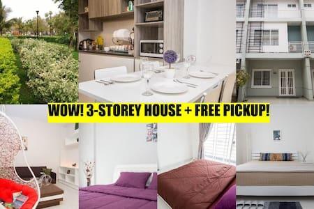 WOW! 3-storey house + FREE pickup! - Phnom Penh