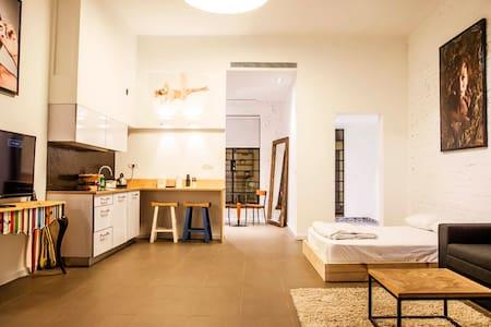 Super Host!  Florentin Loft-Breakfast-Privt Bkyard - 特拉维夫-雅法 - 公寓