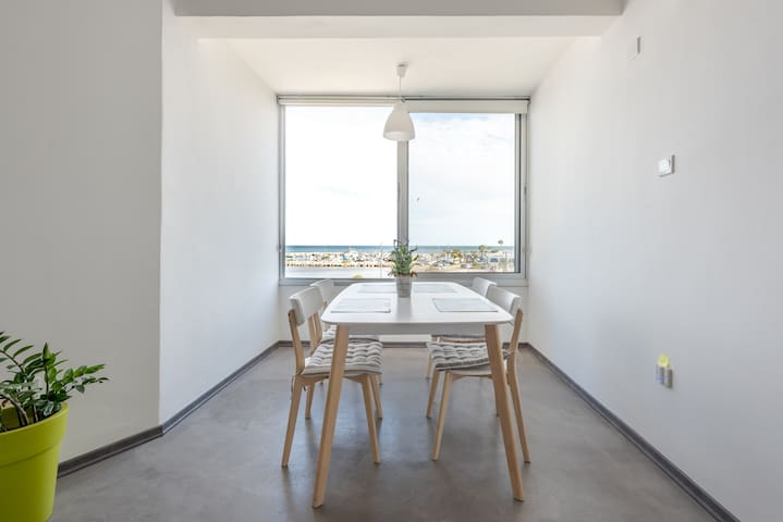 Eating with spectacular view