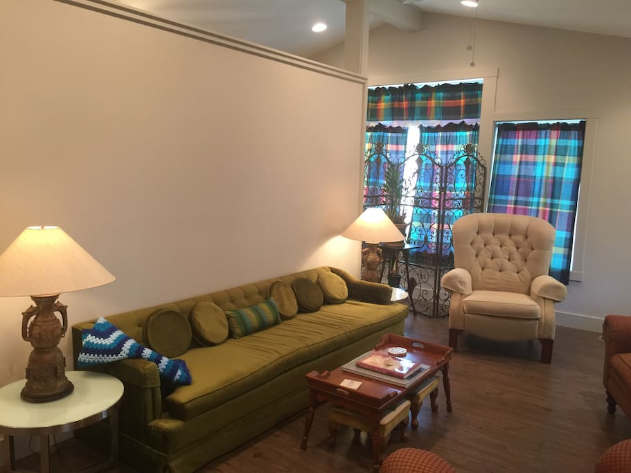 Comfortable seating with a cool mid-century modern vibe!