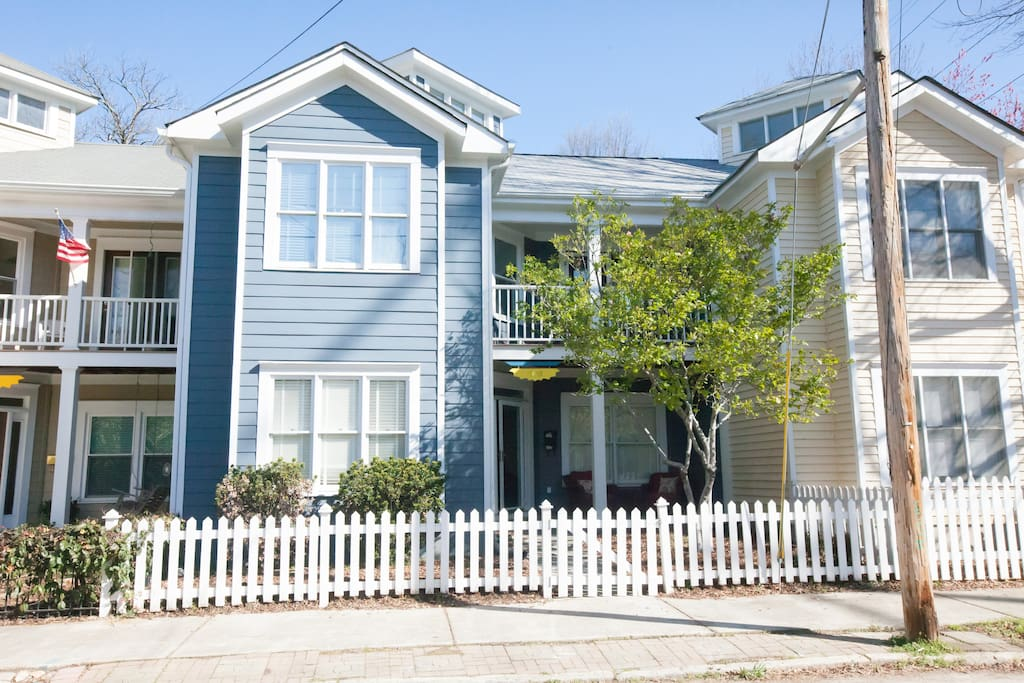 Front of Townhome with Charleston style double porches