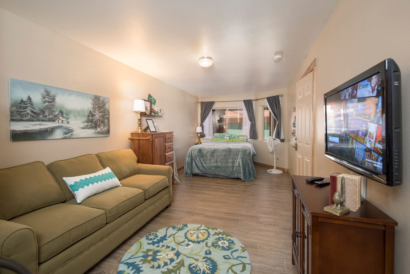 Quaintly decorated garden level studio apartment in Dillon, CO.