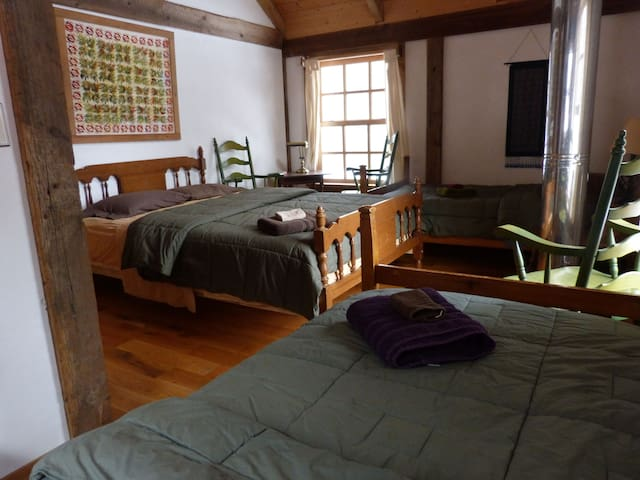 The GardenView Room. To reserve this room, that will sleep up to three-four, please inquire. Family style room.