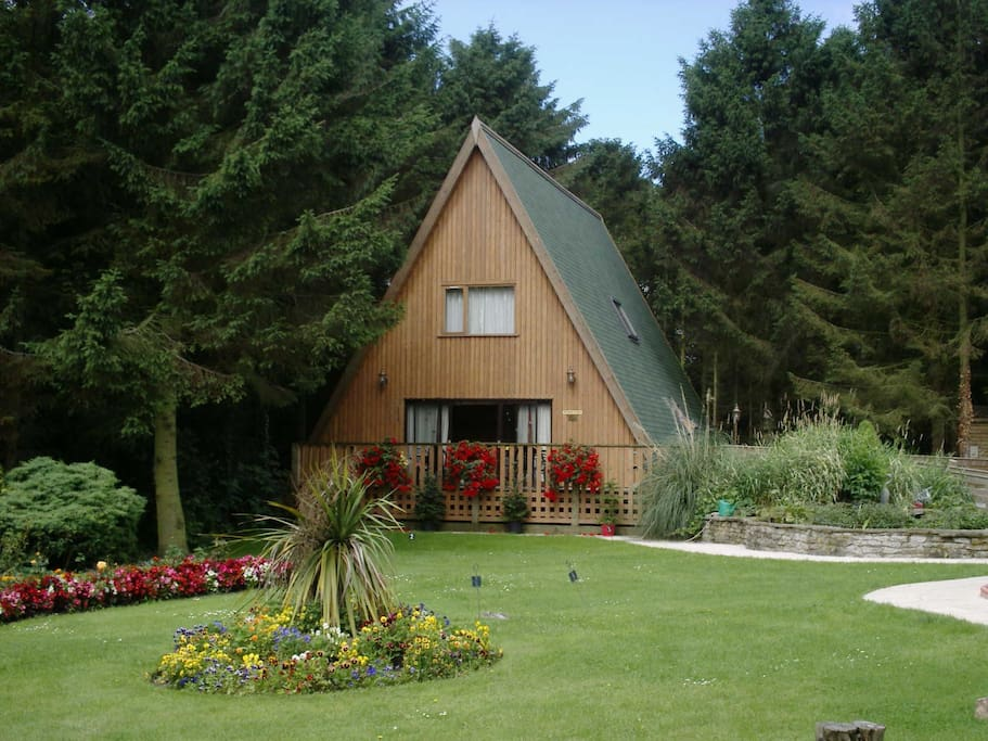 View of the 4 bedroom pine lodge