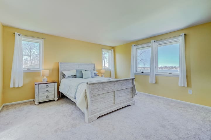 View the sunsets from the relaxing master bedroom