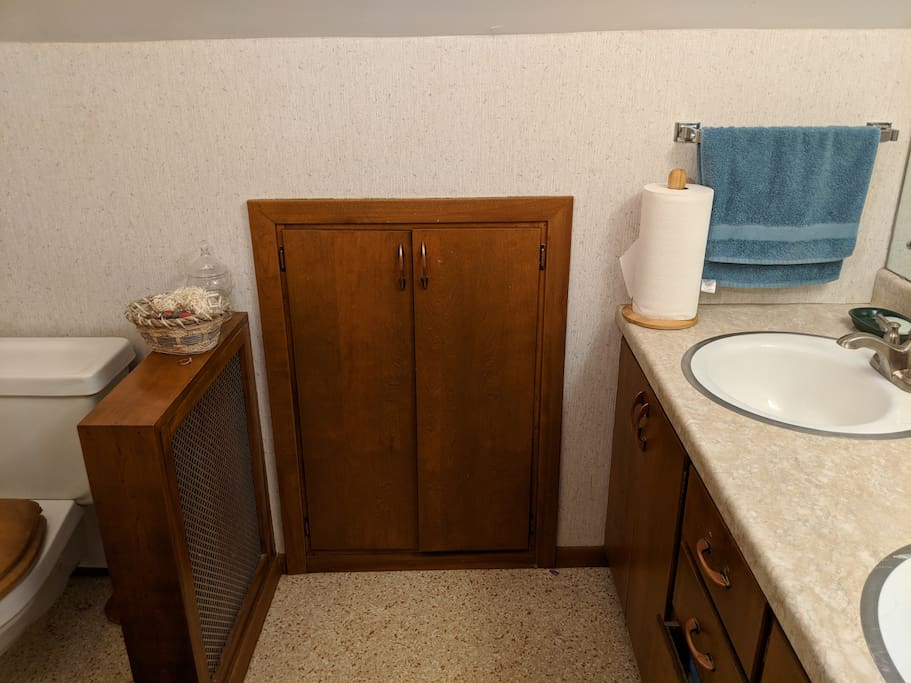 This is the private bathroom in the guest suite