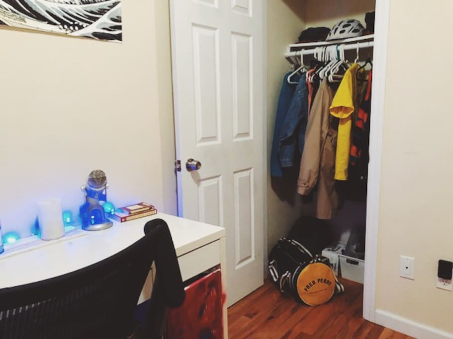 Full closet available to renters