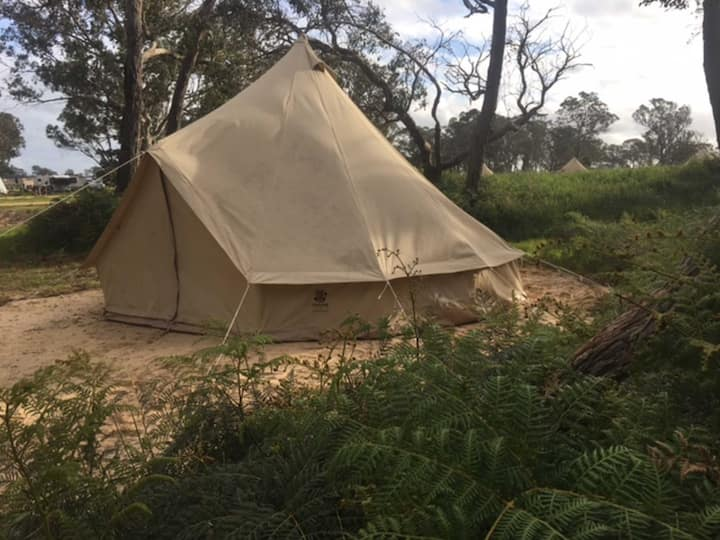 Bush bell tent 1 · Bush bell tent - no power, linen