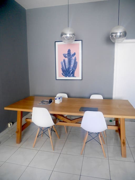 Dining Table & Work Space